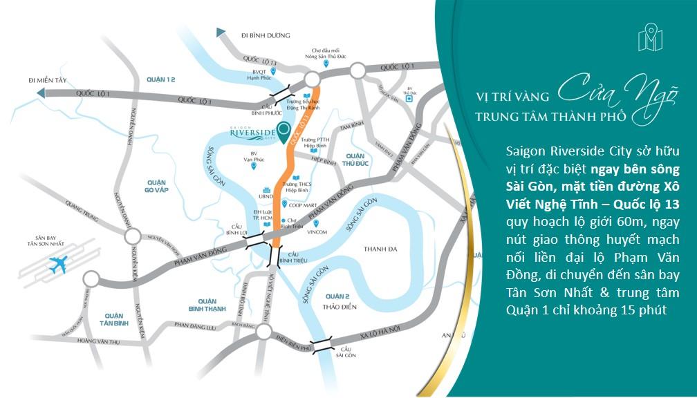 Vị trí đắc địa của Saigon Reiverside City